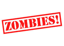 ZOMBIES!. Red Rubber Stamp over a white background Royalty Free Stock Photography