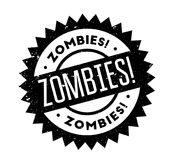 Zombies rubber stamp. Grunge design with dust scratches. Effects can be easily removed for a clean, crisp look. Color is easily changed Stock Images