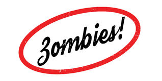 Zombies rubber stamp. Grunge design with dust scratches. Effects can be easily removed for a clean, crisp look. Color is easily changed Stock Photo