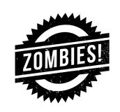 Zombies rubber stamp. Grunge design with dust scratches. Effects can be easily removed for a clean, crisp look. Color is easily changed Stock Photos