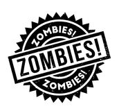 Zombies rubber stamp. Grunge design with dust scratches. Effects can be easily removed for a clean, crisp look. Color is easily changed Royalty Free Stock Photography