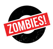 Zombies rubber stamp. Grunge design with dust scratches. Effects can be easily removed for a clean, crisp look. Color is easily changed Royalty Free Stock Image