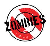 Zombies rubber stamp. Grunge design with dust scratches. Effects can be easily removed for a clean, crisp look. Color is easily changed Stock Photography