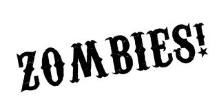 Zombies rubber stamp. Grunge design with dust scratches. Effects can be easily removed for a clean, crisp look. Color is easily changed Royalty Free Stock Photo