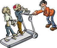 Zombies on a treadmill Royalty Free Stock Image