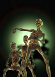 Zombies walking Royalty Free Stock Image