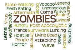 Zombies. Word cloud with white background Royalty Free Stock Photography