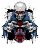 Zombieschedel Royalty-vrije Stock Fotografie