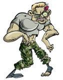 Zombiesoldat Arkivfoto