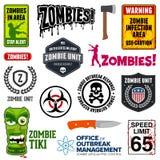 Zombietekens Royalty-vrije Stock Afbeelding