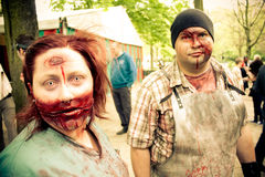 ZomBIFFF Parade (Zombie Parade)  2014 - Brussels Royalty Free Stock Image