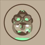 Zombis au néon de singe illustration de vecteur