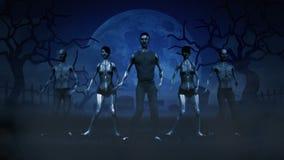 Zombis da dança ilustração stock