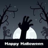 Zombis de Halloween marchant et main de zombi Photo stock