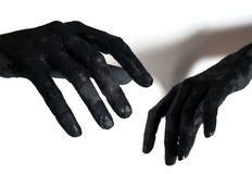 Zomby hands Stock Photography