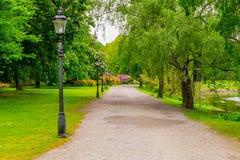 Zomer bij een park in Stockholm Stock Foto