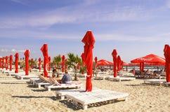 Zomer in de Zwarte Zee, bij Mamaia-Strand Royalty-vrije Stock Afbeeldingen