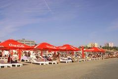 Zomer in de Zwarte Zee, bij Mamaia-Strand Stock Fotografie