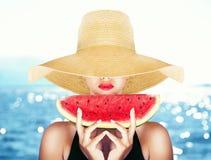 Zomer en watermeloen Royalty-vrije Stock Foto's