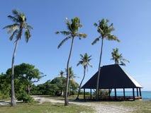 Zomer-huis op een strand van Mana Island Stock Afbeelding