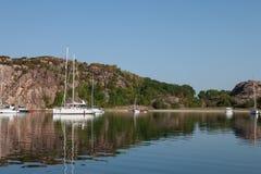 Zomer op Zweedse kust Royalty-vrije Stock Foto's