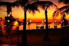 Zon die in Boracay wordt geplaatst stock fotografie