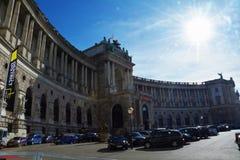 Zon die over het Keizerpaleis van Hofburg in Wenen glanzen Royalty-vrije Stock Fotografie