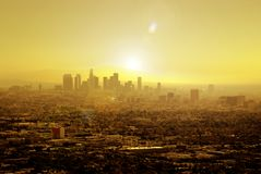 Zon Doorweekt Los Angeles stock foto's