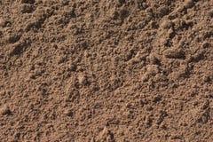 Zon doorweekt zand met verschillende grootte van zandkorrels Royalty-vrije Stock Foto's