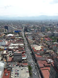 Zon in een straat van Mexico-City Royalty-vrije Stock Fotografie