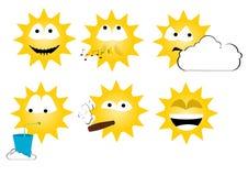 Zon emoticons royalty-vrije stock foto's