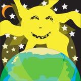 Zon en Aarde Royalty-vrije Stock Foto