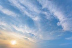 Zon en hemel Royalty-vrije Stock Afbeeldingen