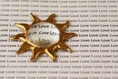 Zon en Liefde Stock Afbeelding