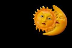 Zon en maan Royalty-vrije Stock Afbeeldingen