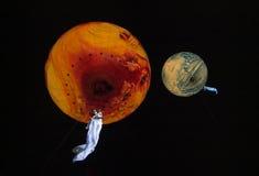 Zon en Maan Stock Afbeeldingen