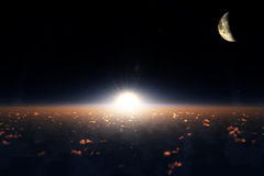 Zon en maan royalty-vrije stock fotografie