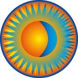 Zon en maan Stock Afbeelding