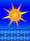 Zon en Overzees stock illustratie