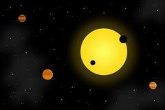 Zon en planeten Stock Foto