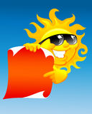 zon en rol Stock Afbeelding