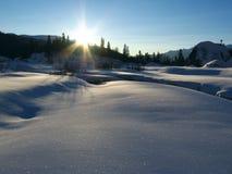 Zon en sneeuw Royalty-vrije Stock Fotografie