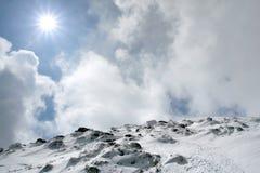 Zon en sneeuw Royalty-vrije Stock Foto's