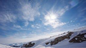 Zon en Sneeuw stock foto
