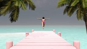 Zon en strand Royalty-vrije Stock Foto's