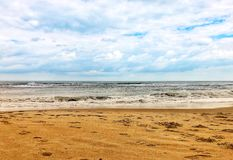 Zon en strand royalty-vrije stock afbeelding