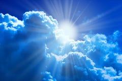 Zon en wolken Royalty-vrije Stock Afbeelding