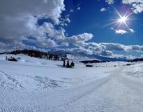 Zon en wolken Stock Foto