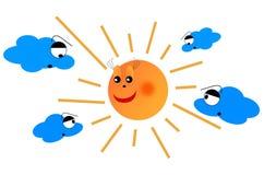 Zon en wolken Royalty-vrije Stock Afbeeldingen