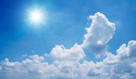 Zon en wolken Stock Fotografie